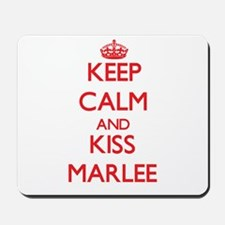 Keep Calm and Kiss Marlee Mousepad