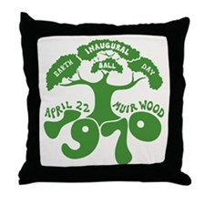 Earth Day Inaugural Ball Throw Pillow