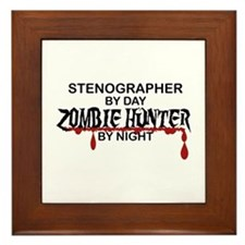 Zombie Hunter - Stenographer Framed Tile