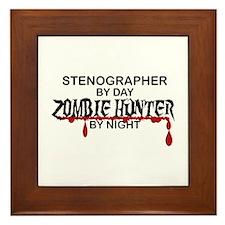 Zombie Hunter - Stenographer Framed Tile