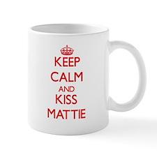 Keep Calm and Kiss Mattie Mugs