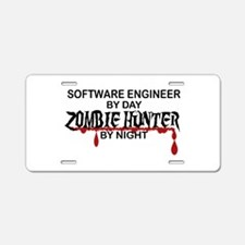 Zombie Hunter - Stenographe Aluminum License Plate