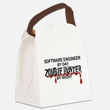 Zombie Hunter - Stenographer Canvas Lunch Bag