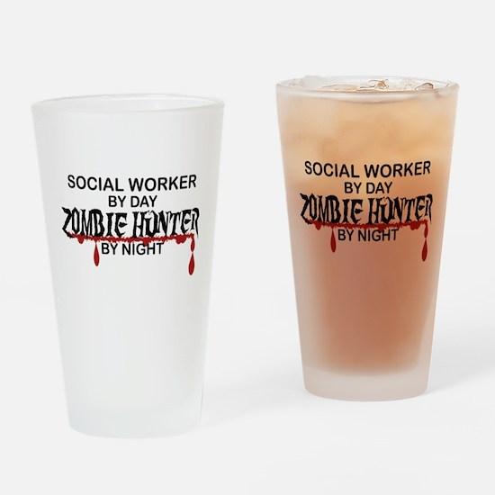 Zombie Hunter - Social Worker Drinking Glass