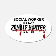 Zombie Hunter - Social Worke Wall Decal