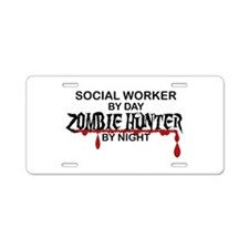Zombie Hunter - Social Work Aluminum License Plate