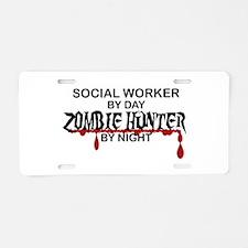 Zombie Hunter - Social Work Aluminum License Plate