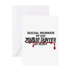 Zombie Hunter - Social Worker Greeting Card