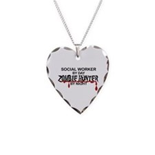 Zombie Hunter - Social Worker Necklace Heart Charm