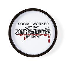 Zombie Hunter - Social Worker Wall Clock