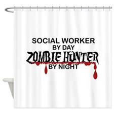 Zombie Hunter - Social Worker Shower Curtain