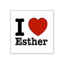 """I love Esther Square Sticker 3"""" x 3"""""""