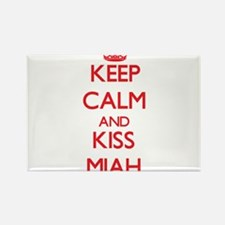 Keep Calm and Kiss Miah Magnets