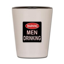 MEN DRINKING Shot Glass