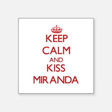 Keep Calm and Kiss Miranda Sticker