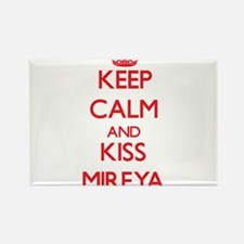 Keep Calm and Kiss Mireya Magnets