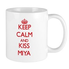 Keep Calm and Kiss Miya Mugs