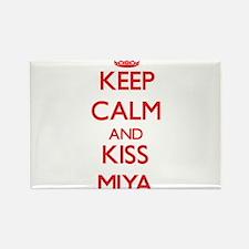 Keep Calm and Kiss Miya Magnets