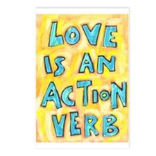 Love Is An Action Verb Postcards (Package Of 8) Po