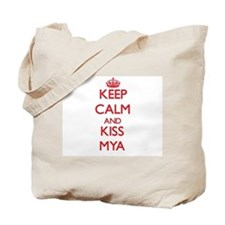 Keep Calm and Kiss Mya Tote Bag