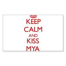 Keep Calm and Kiss Mya Decal