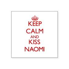 Keep Calm and Kiss Naomi Sticker