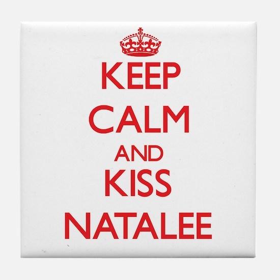 Keep Calm and Kiss Natalee Tile Coaster
