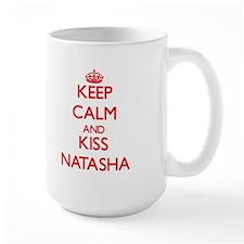 Keep Calm and Kiss Natasha Mugs