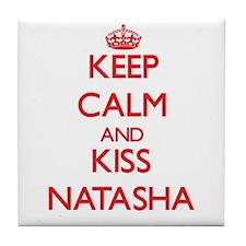 Keep Calm and Kiss Natasha Tile Coaster