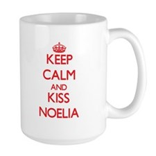 Keep Calm and Kiss Noelia Mugs