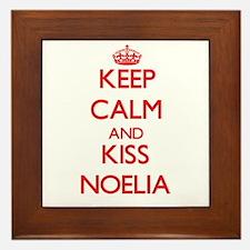 Keep Calm and Kiss Noelia Framed Tile