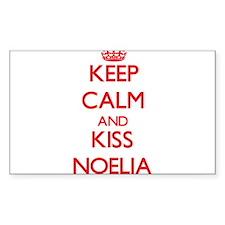 Keep Calm and Kiss Noelia Decal