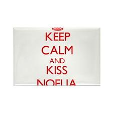 Keep Calm and Kiss Noelia Magnets