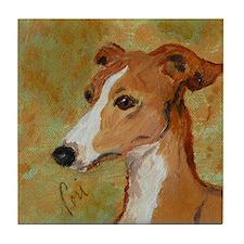 Treasured Moments Italian Greyhound Tile Coaster