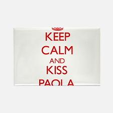 Keep Calm and Kiss Paola Magnets