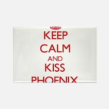 Keep Calm and Kiss Phoenix Magnets