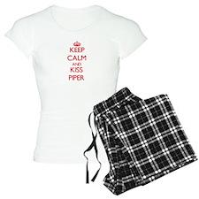 Keep Calm and Kiss Piper Pajamas