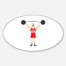 Circus Weightlifter Strong Man Decal