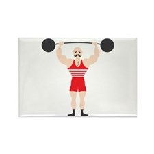 Circus Weightlifter Strong Man Magnets