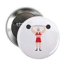 "Circus Weightlifter Strong Man 2.25"" Button"