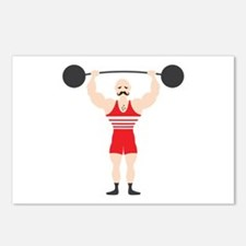 Circus Weightlifter Strong Man Postcards (Package