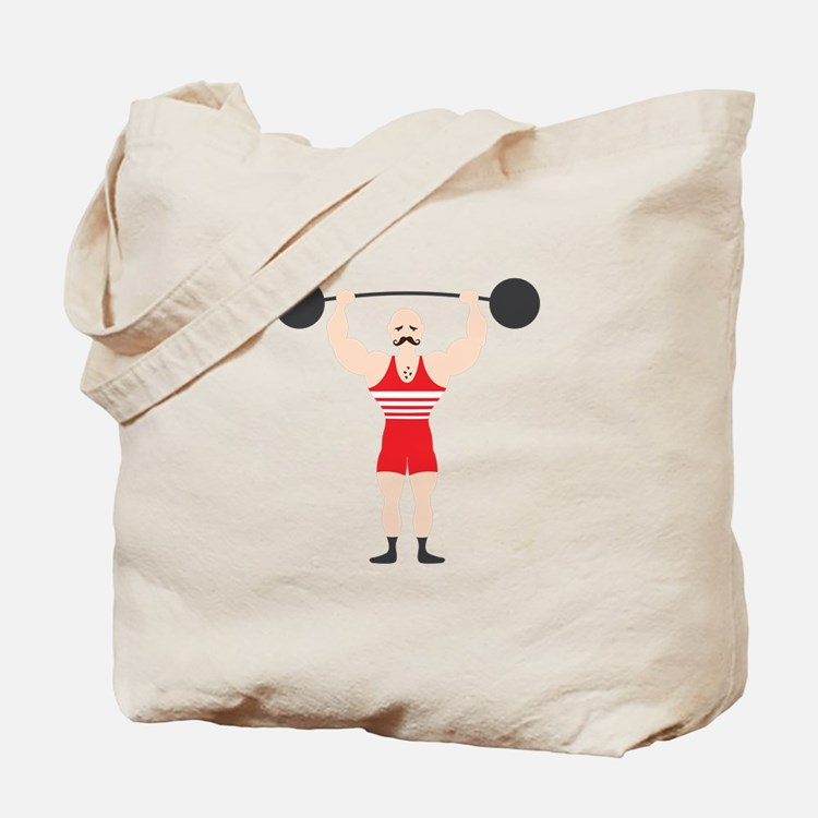 Circus Weightlifter Strong Man Tote Bag