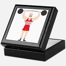 Circus Weightlifter Strong Man Keepsake Box