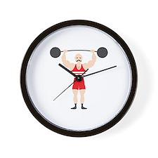 Circus Weightlifter Strong Man Wall Clock