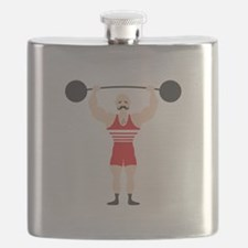 Circus Weightlifter Strong Man Flask