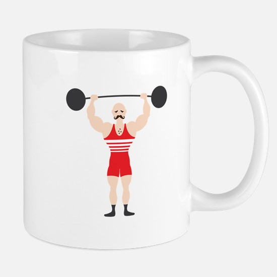 Circus Weightlifter Strong Man Mugs