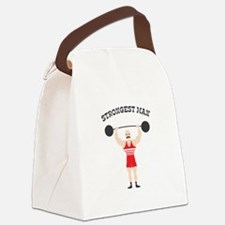 STRONGEST MAN Canvas Lunch Bag