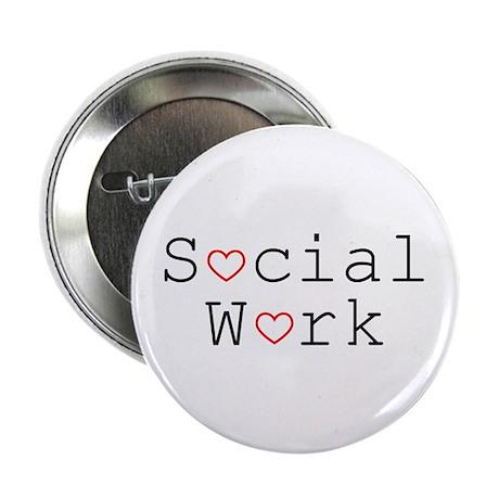Social Work Hearts Button