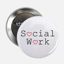 Social Work Hearts Button