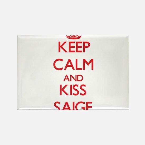 Keep Calm and Kiss Saige Magnets